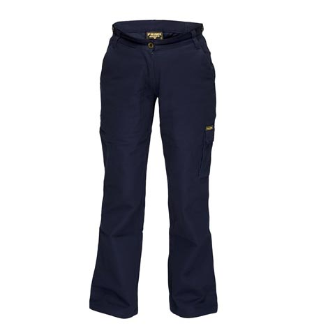 ML708 - Ladies Cotton Drill Cargo Pants