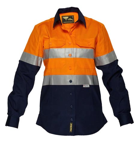 ML108 - Ladies Cotton Drill Shirt