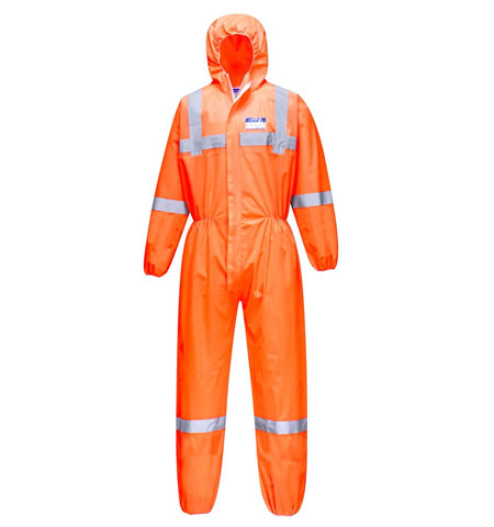 ST36 Hi Vis SMS Coverall (50 Piece)